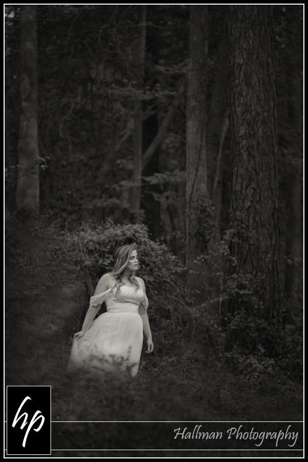 Bridal session done in Lexington SC woods by Patty Hallman, Hallman Photography