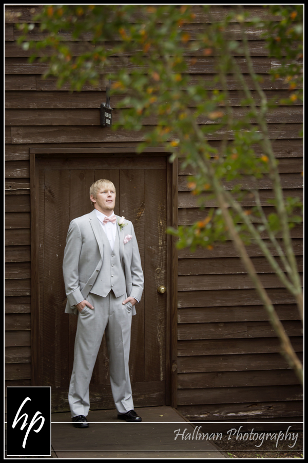 Groom at Corley Mill House in Lexington, SC