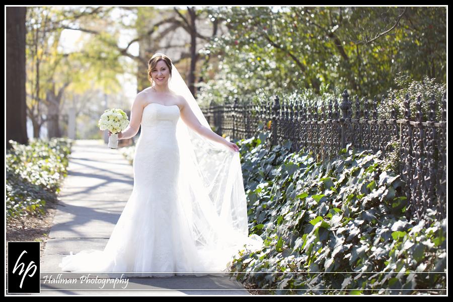 Bridal portrait at SC Lace House