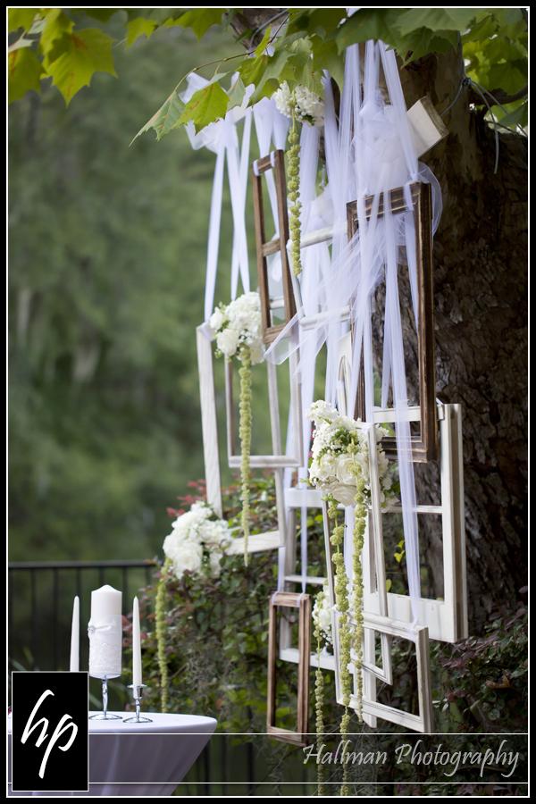 window frame wedding decor
