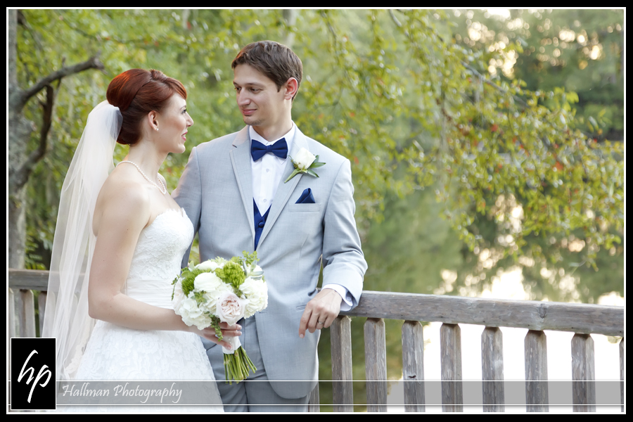 bride and groom after wedding at Millstone at Adams Pond