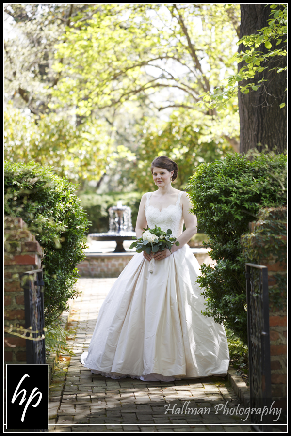 Bridal portrait at SC Lace House